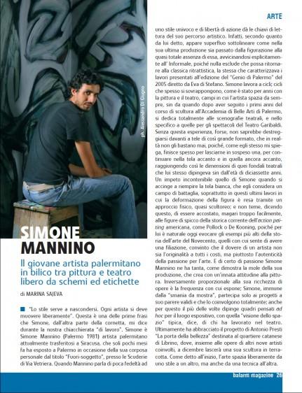Simone Mannino Il giovane artista palermitano in bilico tra pittura e teatro